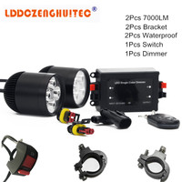 LDDCZENGHUITEC Universal Motorcycle LED Spotlight Driving Headlight Fog Lamp Spot Light With A Luminum Lamp Auxiliary