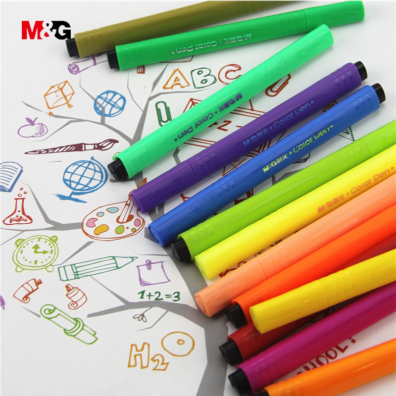M&G Watercolor kawaii manga markers set for school suppies colored marker pens for drawing art design sketch liner gift for kids kawaii manga adorable