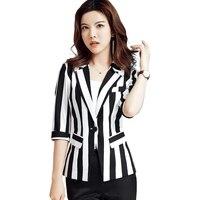 Large Big Size Stripe Femme Striped Woman Coats Women's Jackets Casaco Feminino Jacket Female Summer Woman Suit