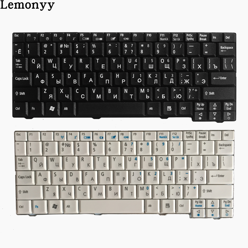 NEW Russian/RU Laptop Keyboard For Acer For Aspire One ZG5 D150 A150 A150L ZA8 ZG8 D210 D250 A110 KAV60 AO531H Emachines EM250