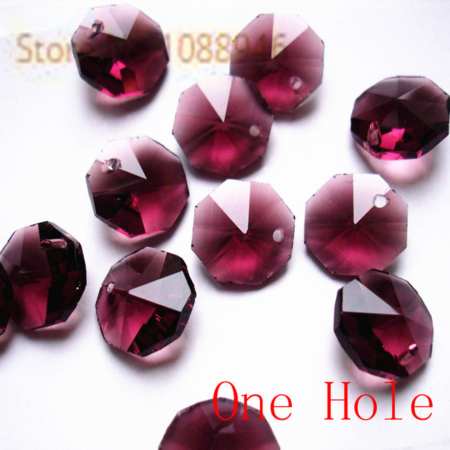 Free Shipping, 14mm Amethyst Crystal Chandelier Parts, Crystal ...