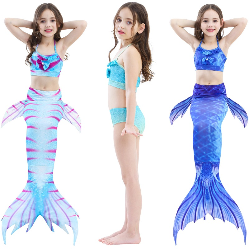New Children's Mermaid Swimsuit Kids Birthday Gifts Mermaid Tail Swimsuit Mermaid Costume Swimsuit Bikini Children's Stage Dress
