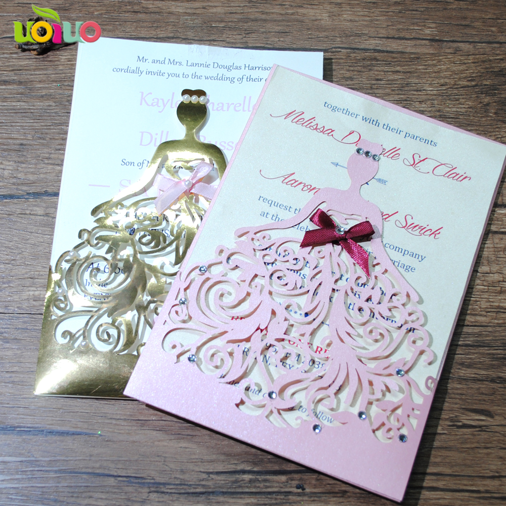Us 66 0 100pcs Lot Exquisite Beautiful Birthday Party Wedding Invitation Cards Ceremony Celebration Invitaiton Blessing Card In