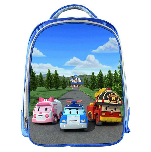 Cartoon Robocar Poli Kindergarten Bag Boys School Backpack Children School Bags Kids Best Gift Book Bag Backbag Mochila Infantil