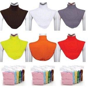 Image 5 - Klassische Bib Kopftuch Islamischen Muslimischen Hut Hijab Seide Schal 402 Stirnband Langen Hals Zurück Schal Abdeckung Schal