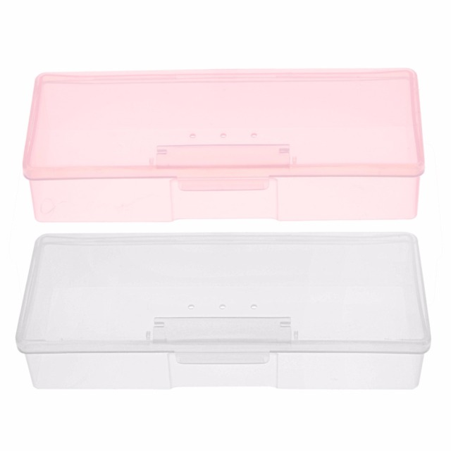 2PC Plastic Nail Supplies Tools Storage Box Rectangle Nail Art Studs ...