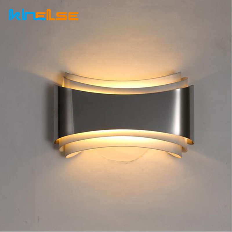 Modern led wall lights for bedroom study room Stainless steel+Hardware 5W home decoration wall цена