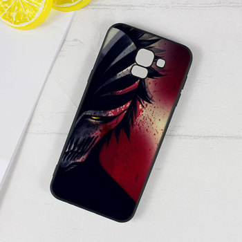 For Samsung Galaxy j8 j7 j6 j5 j4 j3 Plus Prime 2018 2017 2016 Black Silicone Phone Case Anime Bleach One Punch Man Style 1