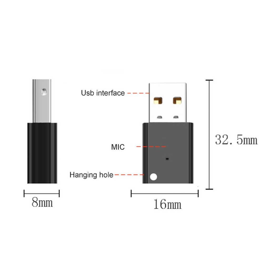 USB AUX Bluetooth 5.0 Car Kit Draadloze Audio Ontvanger USB Dongle Adapter voor Autoradio MP3 Speler Draadloze Mouss Geen 3.5mm Jack
