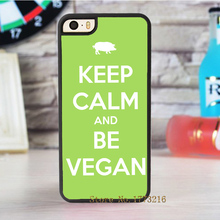 """Keep Calm and Be Vegan"" phone case for iPhone 4 4s 5 5s SE 5c 6 & 6 plus 6S & 6S plus 7 7 plus"