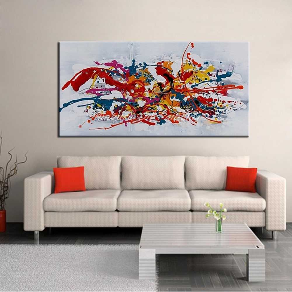 Mintura Art Large Size Hand Painted Abstract Oil Painting On Canvas Modern Wall Art Picture for Living Room Home Decor No Framed