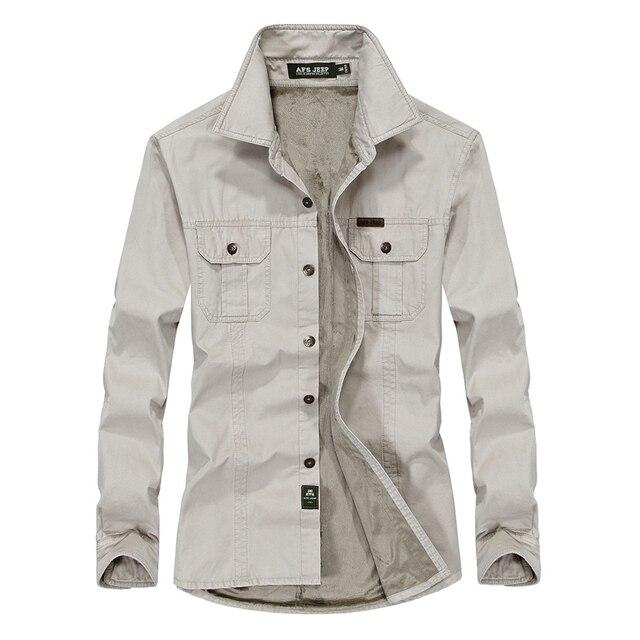 d282f073ab Camisa social masculina camisa dos homens manga comprida grosso quente  algodão marca camisa dos homens vestido