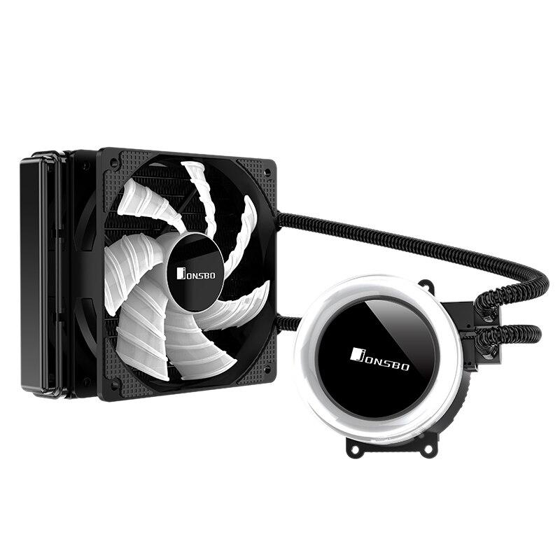 Jonsbo Tw-120 Pc Cpu refroidissement par eau 4Pin Pwm intégré refroidisseur d'eau pour Lga 775/115X Intel Amd Ryzen Apu ordinateur
