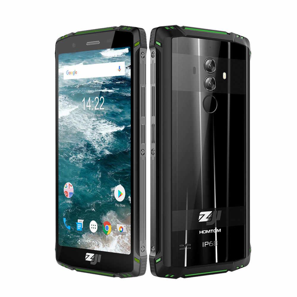 """Глобальная версия HOMTOM ZOJI Z9 6 ГБ 64 Гб ОЗУ IP68 5500 мАч водонепроницаемый мобильный телефон Android 8,1 5,7 """"смартфон с распознаванием лица и отпечатком пальца"""