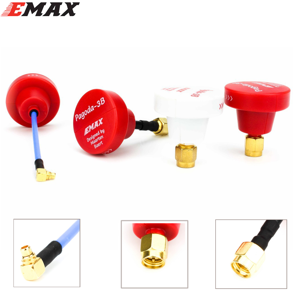 2pcs/lot EMAX Pagoda 3B by Maarten Baert VTX Antenna Pagoda Pro pagoda 2 mmcx Antena FPV for RC Quadcopter цена