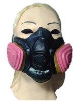 Freies Verschiffen Heißer Verkauf Halloween Halbe Gesichtsmaske Lustige Leistung von Latex Masken-Trommel Gas Gesicht