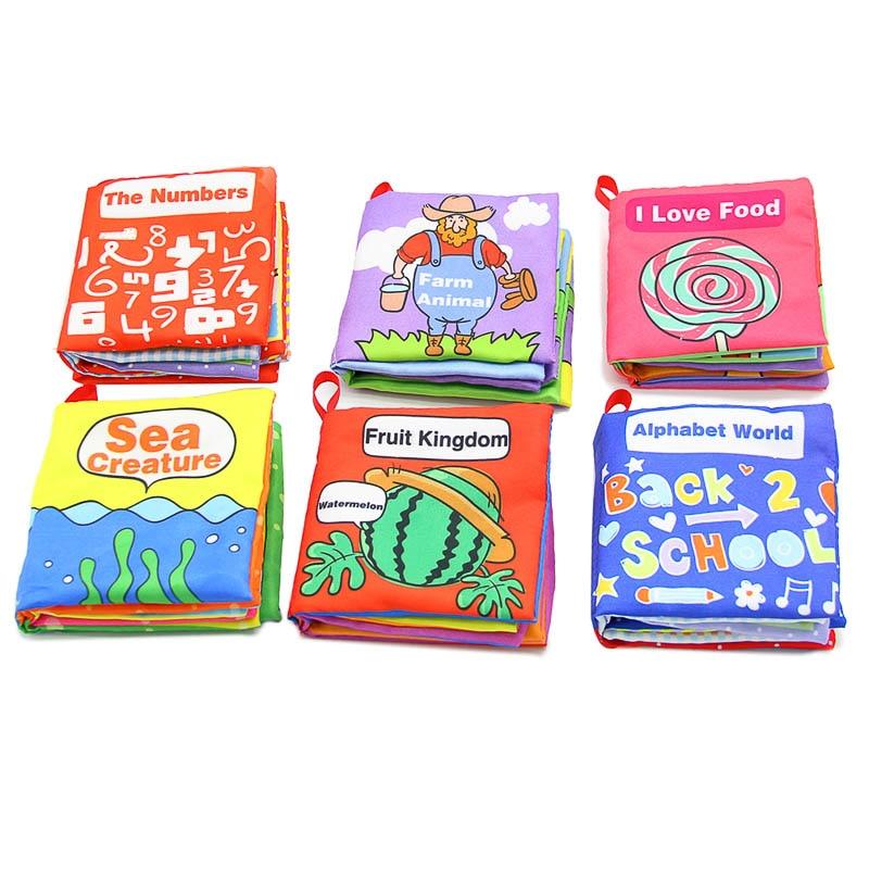 6 قطع لينة كتب الرضع التنمية المعرفية - التعلم والتعليم