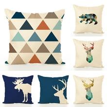 13 Style 45x45cm Nordic Minimalist Creative linen cuddle pillowcase Office waist cushion cover Home Soft christmas pillow