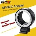 Nf viltrox ef-nex lente adaptador w/montaje de trípode anillo de apertura para nikon f ai af-s lente g de sony e nex cámara a7 a7r nex 7 6 5 3