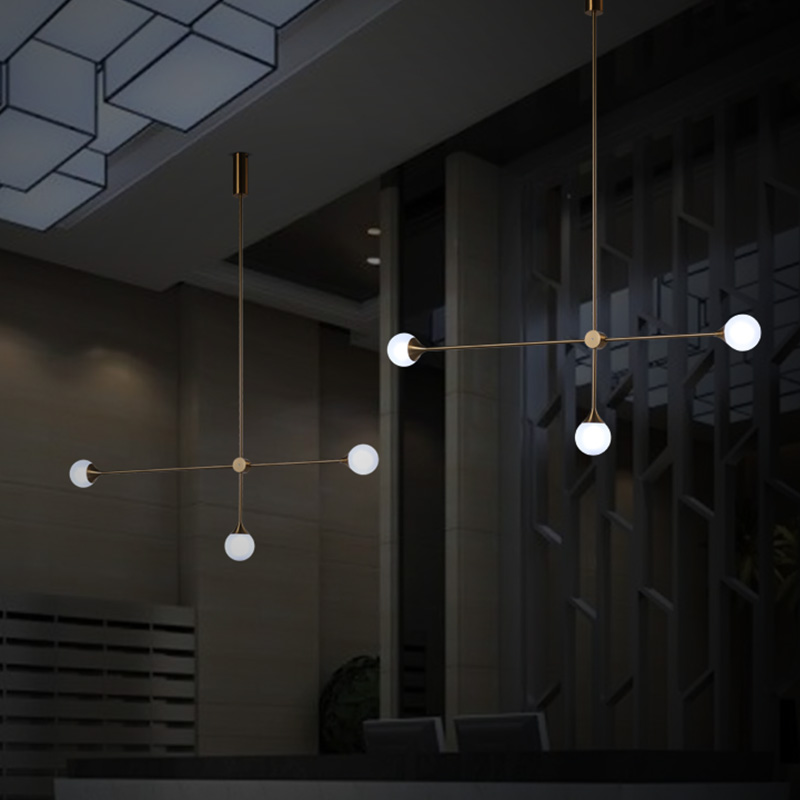 Nordic 3 Lights Art Style Living Room Pendant Light Loft Geometric Dining Room Light Coffee Shop Light With Led BulbsNordic 3 Lights Art Style Living Room Pendant Light Loft Geometric Dining Room Light Coffee Shop Light With Led Bulbs