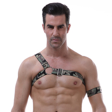 Mens Erotic Leather Body Harness Punk Belts Gothic Bondage Customes Cage Male Sexy Chest Garter Belts Hot sexy Lingerie Clubwear