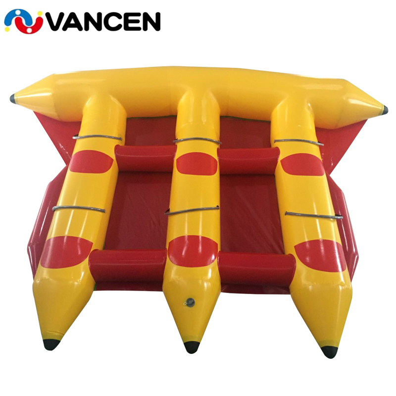 Inflatable Banana Boat Flying Fish Boat Comercial Single Tube 6 Seaters Summer Water Games Floating Toys For Adults