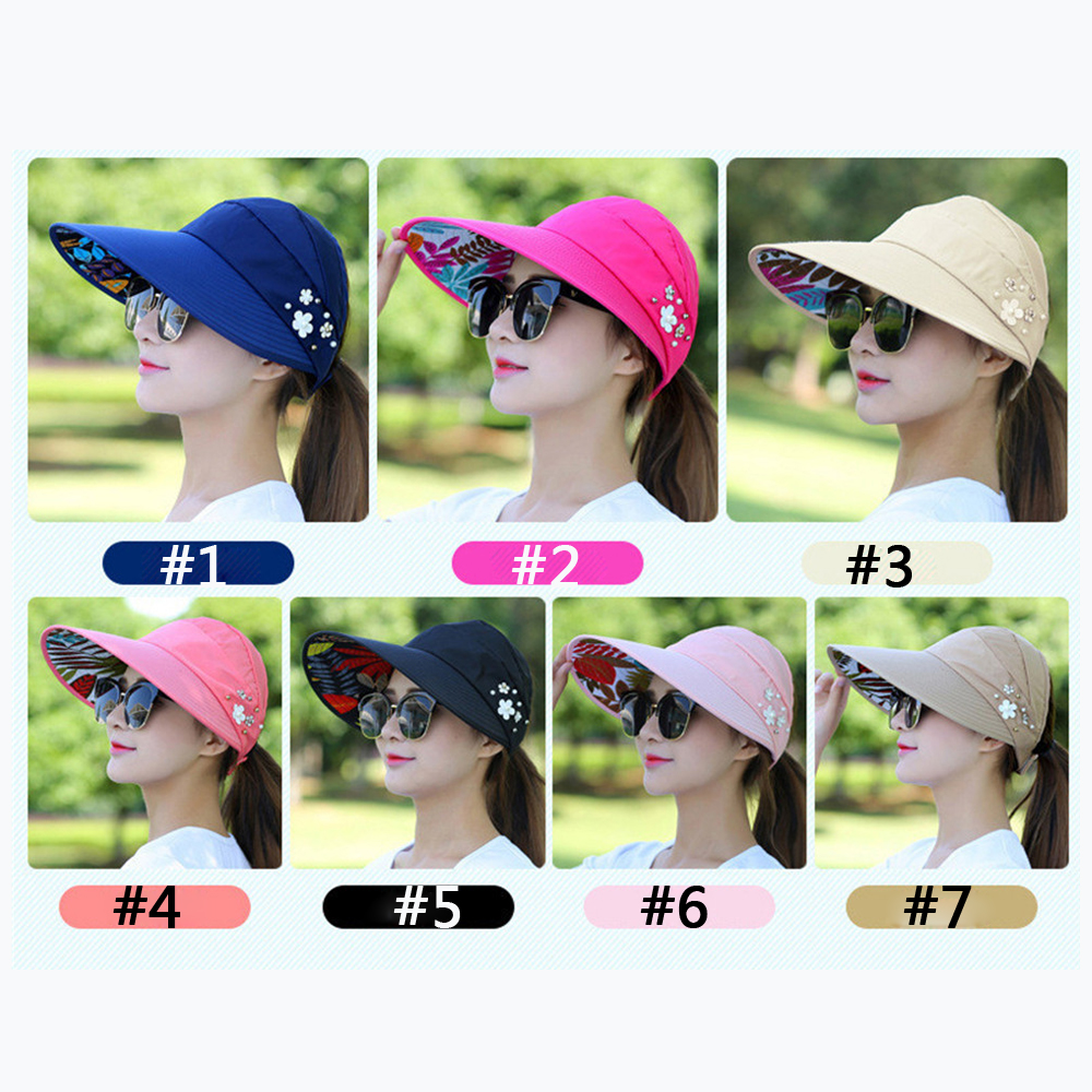 8fd570b42cf FLASH DEAL ~ Sun Hats for Women Visors Hat Fishing Fisher Beach Hat UV  Protection Cap Black Casual Womens Summer Caps Ponytail Wide Brim Hat