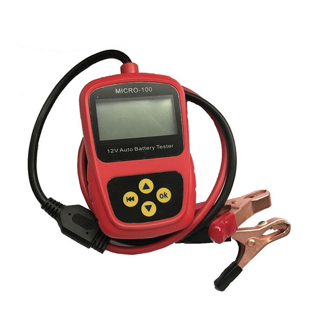 High Precision Professional Digital Car Battery Tester Multi-language With LED Light Display Automatic Battery Diagnostic Tool