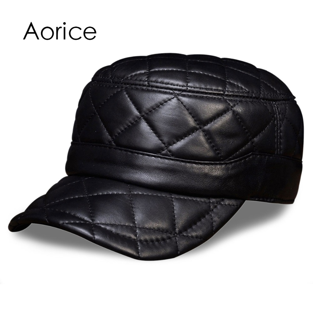 HL031 MEN'S genuine leather baseball cap hat brand new leather caps hats hl171 f spring genuine leather baseball sport cap hat men s winter warm brand new cow skin leather newsboy caps hats 5 colors