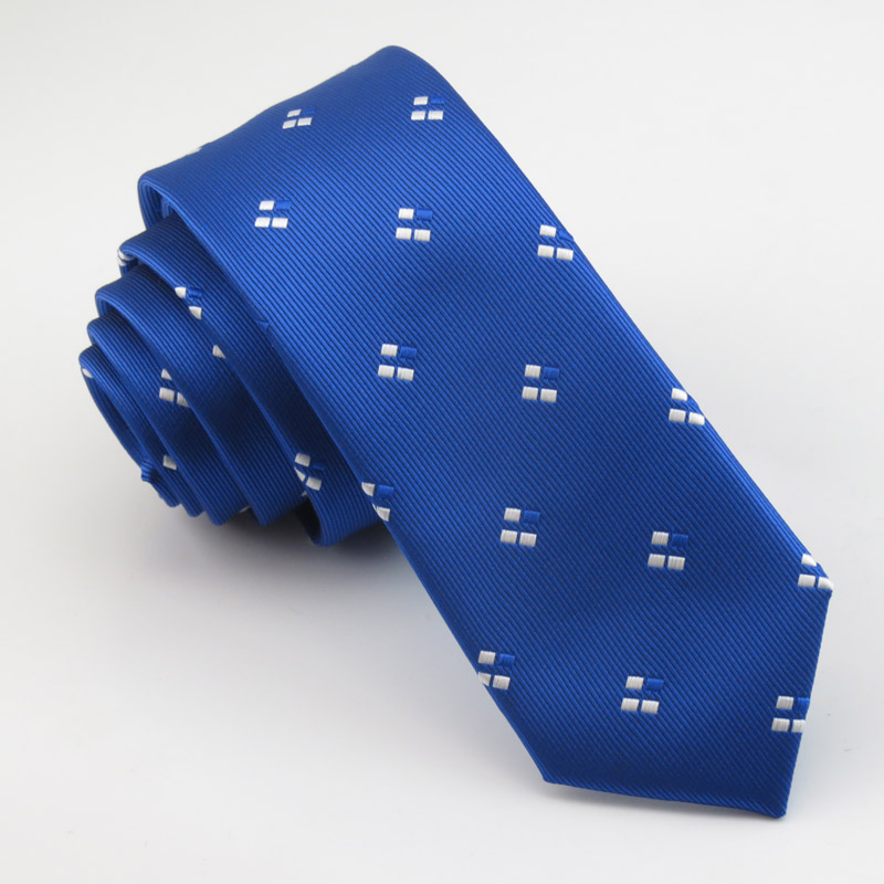 men royalblue slim tie necktie Fashion boutique ties mens white little new pattern of fine quality workmanship tie for boys
