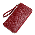 Genuine Leather Women Wallets Famous Brand Zipper Long Clutch Bags Wallet Purse Candy Color Handbags Casual Bolsas Bolsos