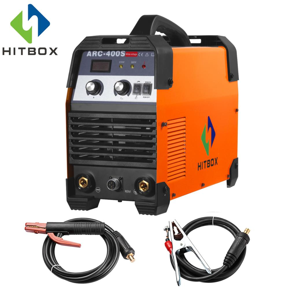 HITBOX Arc Welder 400A Arc Welding Machine 220V 380V STICK Inverter Welding IGBT Heavy Duty Machine ARC for MMA Welding