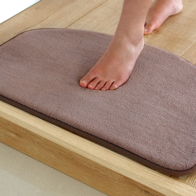 Super Soft Floor Mat Solid Color Rugs Anti Slip Kitchen Bathroom Carpet Make Your House