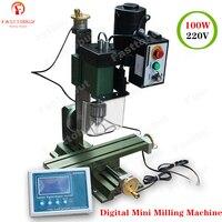 100W Digital small milling machine 0 2800r/min Mini Milling Machine with Digital display for metal, wood, small parts machining
