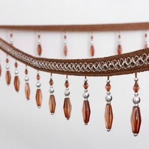 6 metros/lote 9,2 cm de ancho con flecos y flecos de cristal cinta de encaje con cuentas para coser accesorios de cortina decoración de encaje gran oferta