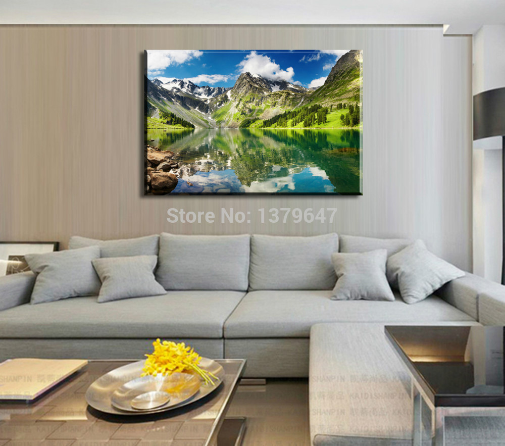 1 Piece Minimalist Living Room Bedroom Modern Home Decoration Landscape Art HD Oil Painting Prints Canvas Wall In Calligraphy