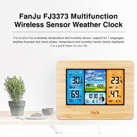 Color Weather Station Forecast Clock Temperature Humidity Barometer Multifunction Alarm Moon Phase Clock Perpetual Calendar