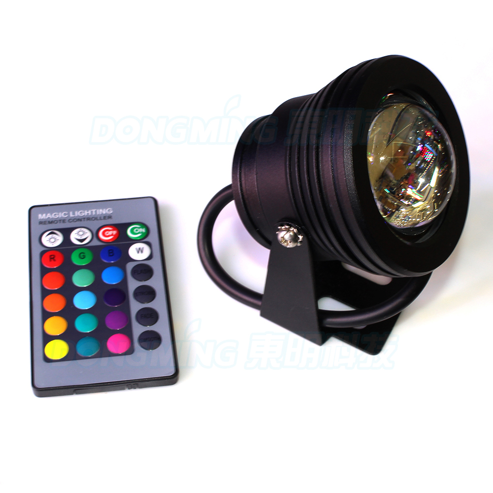 black cover convex lens underwater led lamp rgb underwater. Black Bedroom Furniture Sets. Home Design Ideas