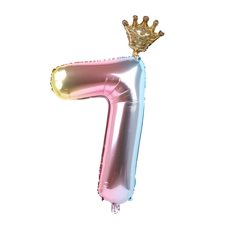 1set 30inch Foil Crown Balloons For Birthday And Baby Shower Decor Supplies 5
