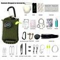 29 peças de explosão-prova de primeiros socorros ao ar livre kit de viagem ao ar livre escalada pacote salva-vida