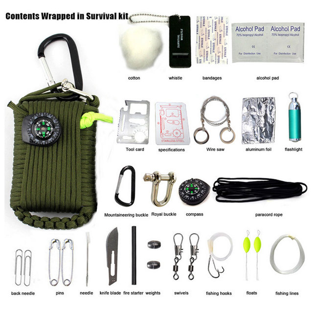 29 pieces of explosion-proof outdoor first aid kit outdoor travel climbing climbing life-saving package
