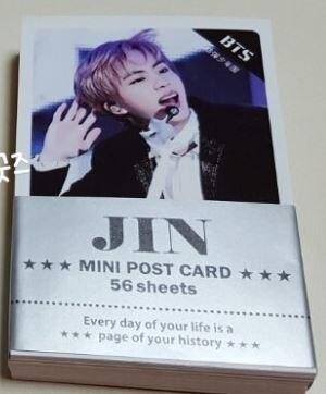 samsung bts 1454b BTS Mini Postcard Set - 56sheets - [UnOfficial]  JIN - Version (ONLY JIN postcard 56sheets)
