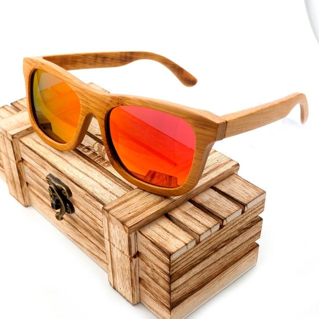 BOBO PÁSSARO BG003e Handmade Colorido Polarized Óculos De Sol Quadro de  Madeira Com Caixa de Bambu 44b3f1ebe1