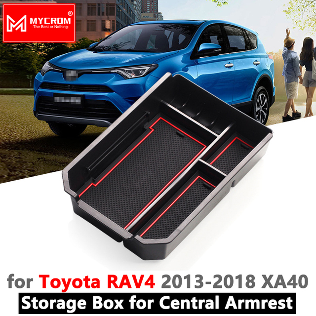 Armrest Box Storage for Toyota RAV4 2013 2014 2015 2016 2017 2018 XA40 40 RAV 4 Stowing Tidying Car Organizer Accessories