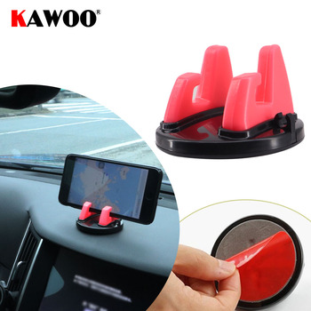 KAWOO 360 Degree Car Mobile Phone Holder For Mitsubishi Peugeot Renault Dashboard Sticker Stand Phone Desk Stand Support Bracket image
