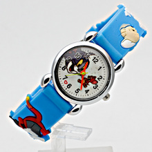 Модная детская Кот и мышь Повседневное детей Часы Кварцевые наручные часы желе дети часы мальчиков часов для девочек студентов