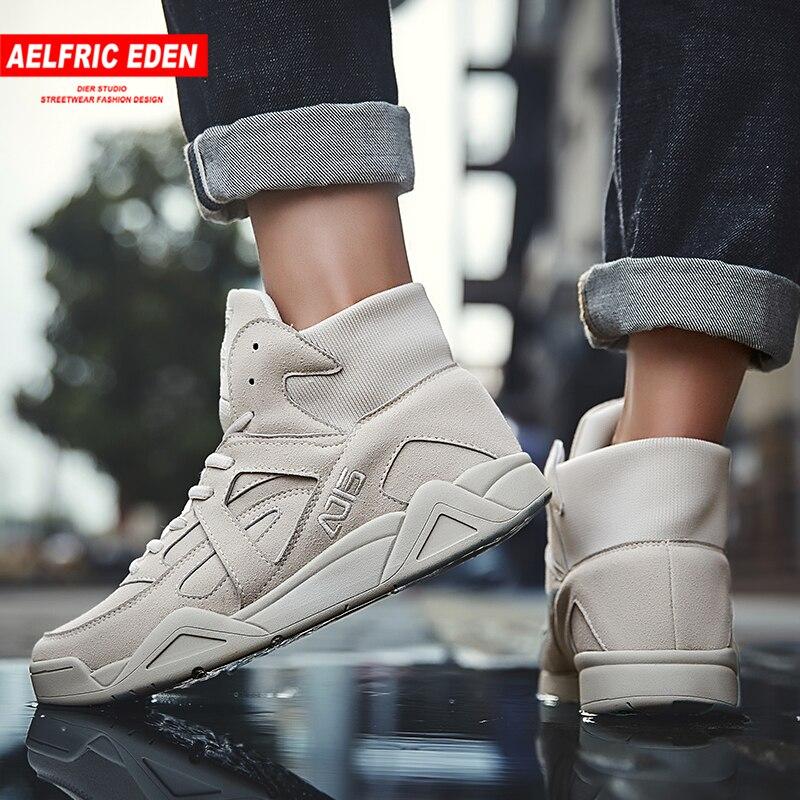 Aelfric Eden Hip Hop Shoes 2018 moda Skateboard Sneakers cómodo alto hombres tobillo botas activo Casual Ae037-in Zapatos informales de hombre from zapatos    1
