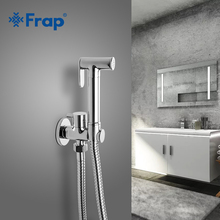 FRAP Bidets Одноместный холодной твердой латуни функция воды цилиндрический угловой клапан биде ручной душ кран 90 градусов Переключатель