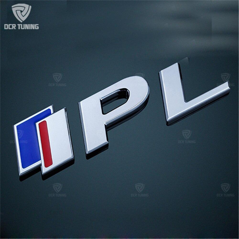 Image 2 - Naklejki samochodowe dla Infiniti Q50 Q50S IPL godło 3.7 godło S logo czerwony niebieski 1 sztuk naklejka z logo na bagażnik naklejana etykieta naklejki Car StylingListwy ozdobne   -