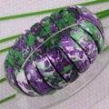 "Free Shipping Fashion Jewelry Stretch Multicolor Ocean Jasper Bracelet 7"" 1Pcs H930"